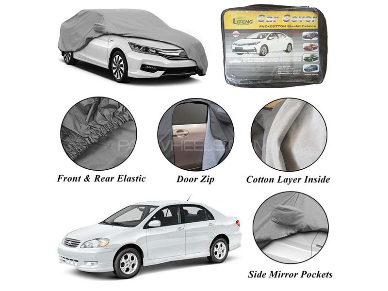 Toyota Corolla 2002-2008 Non Wooven Inner Cotton Layer Car Top Cover  Image-1