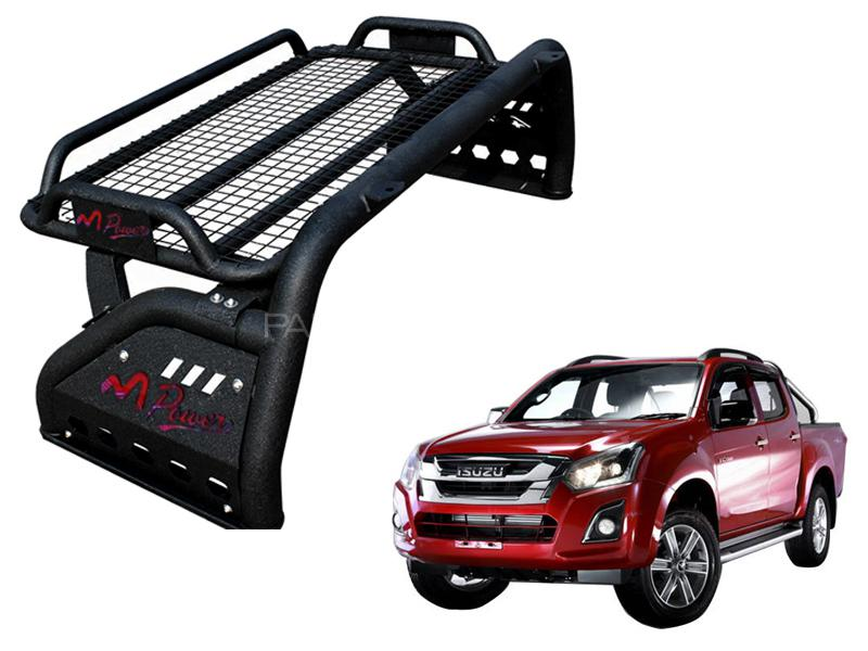 Mpower Roll Bar For Isuzu D-max Matt Black With Cargo Tray 2018-2020 in Lahore