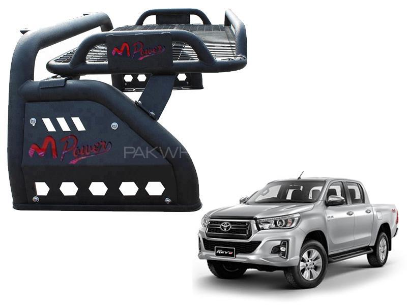 Mpower Roll Bar For Toyota Revo / Vigo Matt Black With Cargo Tray Image-1