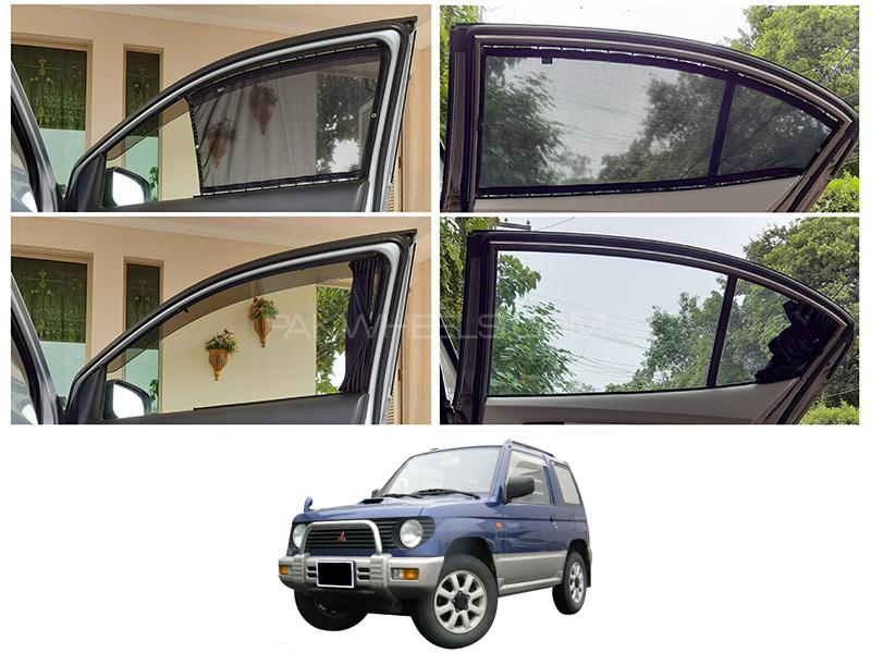 Awra Foldable Fitting Curtain Black Shades For Mitsubishi Mini Pajero 1994-2012 Image-1