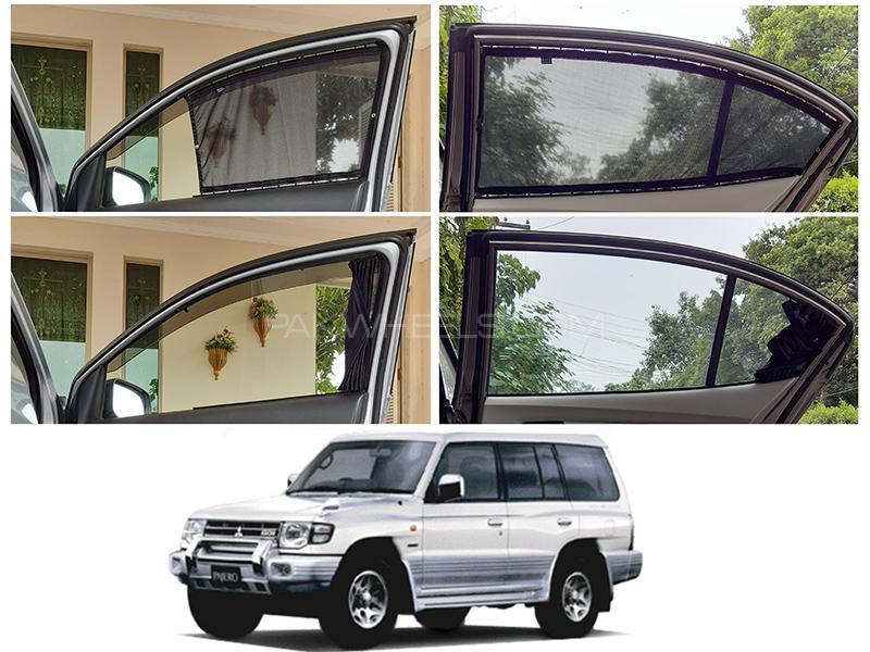 Awra Foldable Fitting Curtain Black Shades For Mitsubishi Pajero 1991-1999 Image-1
