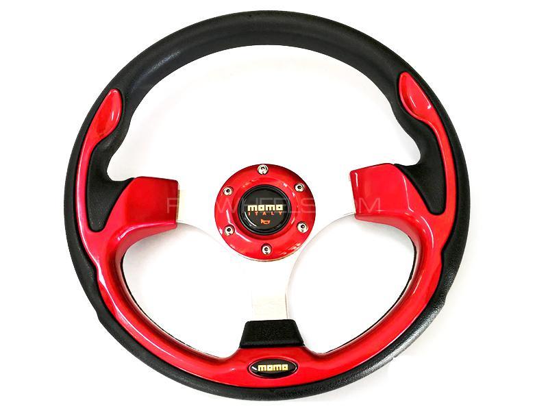 Momo Steering Wheel For Suzuki - Red Image-1