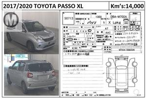 Used Toyota Passo X L Package 2017