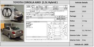 Used Toyota Corolla Axio X 1.5 2018