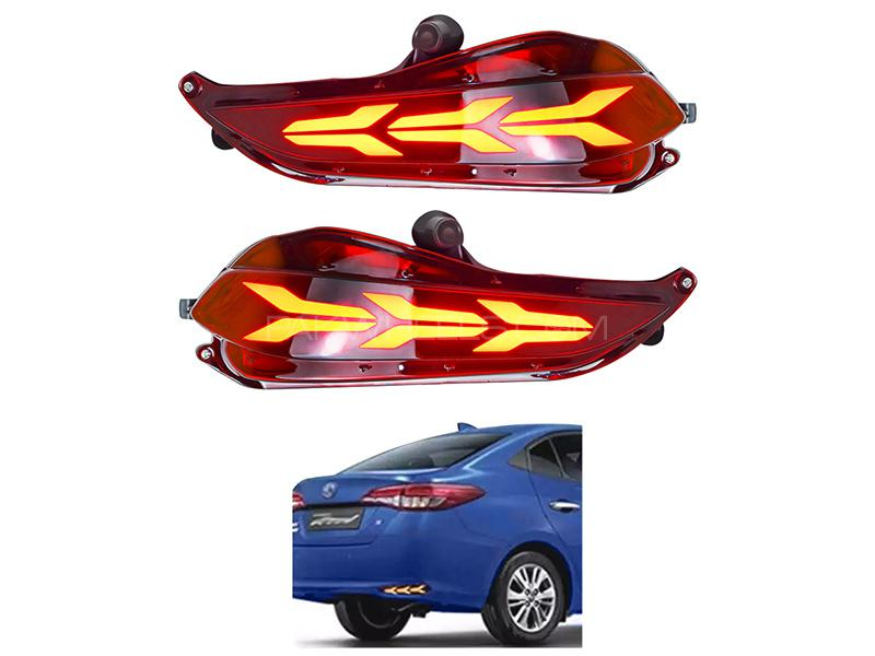 Toyota Yaris 2020 Rear Bumper Reflector Arrow Style  Image-1
