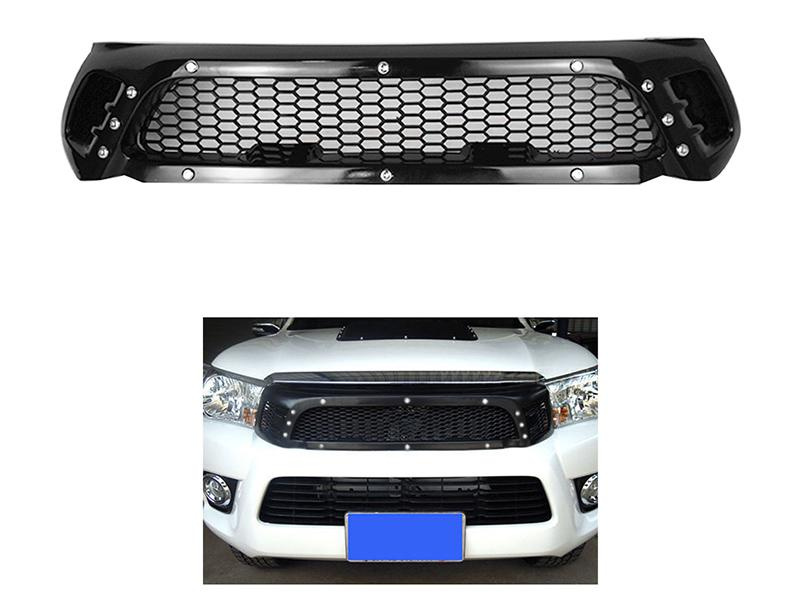 Toyota Hilux Revo 2016-20 Front Nut Grill - Black Image-1