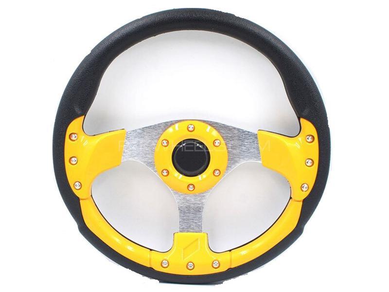 Momo Steering Wheel For Honda - Yellow Image-1