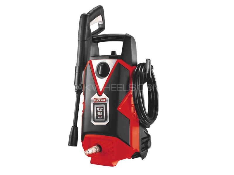 Black Max Professional Pressure Washer With Shampoo Gun 110 Bar Image-1
