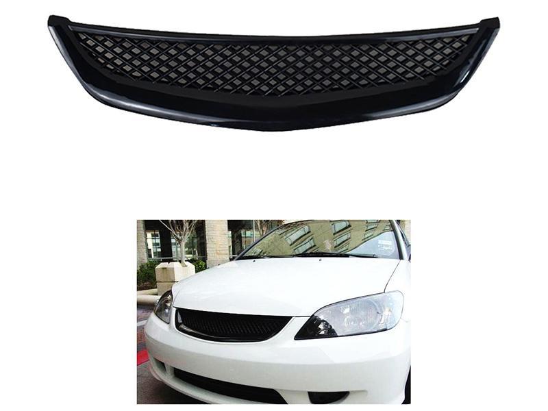 Honda Civic 2001-2005 Front Mesh Grill - Black  Image-1