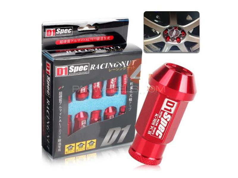 Universal D1 Specs Lug Nuts - Red Image-1