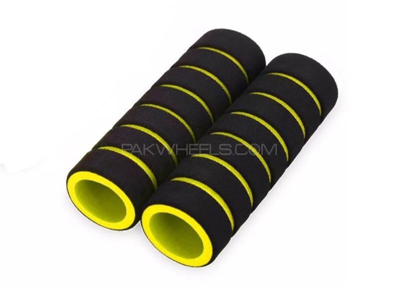Universal Foam Cover For Handle Grip - Yellow Image-1