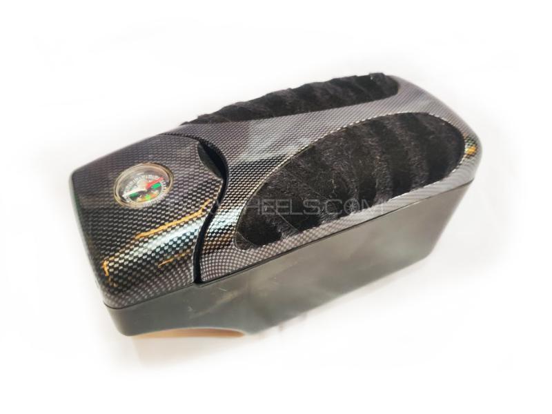 Car Universal Multi Box Arm Rest Carbon Fur D1 Image-1