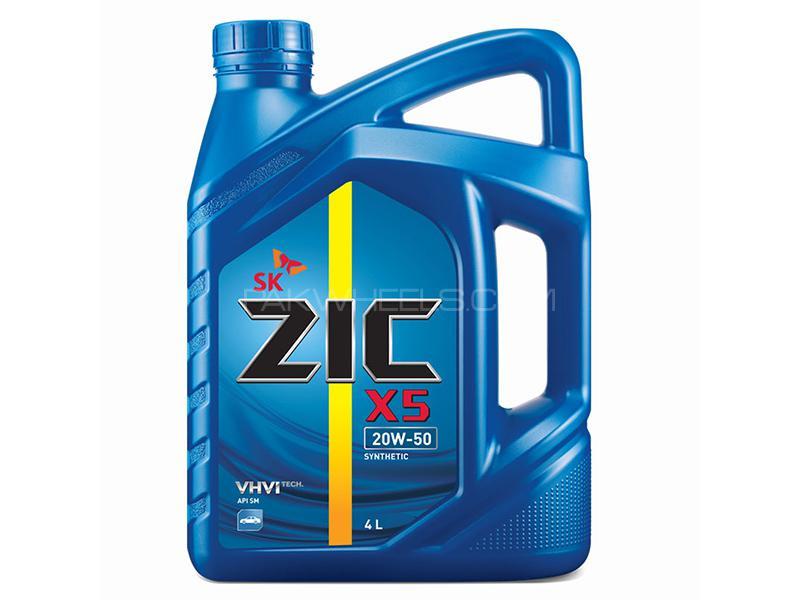 Zic X5 Engine Oil 20W-50 - 4 Litre Image-1