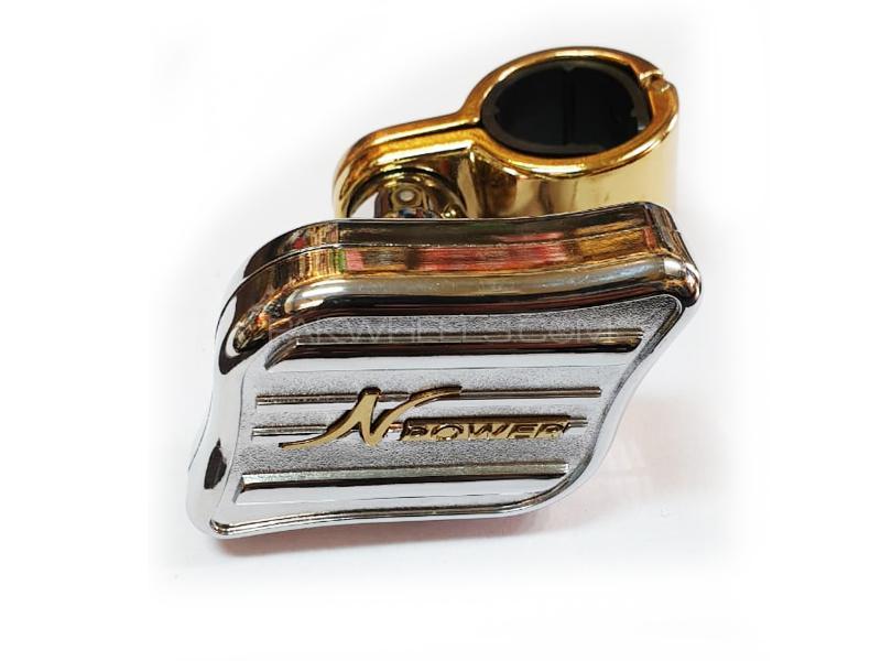 N Power Steering Wheel Metal Knob Image-1