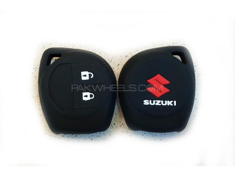 Suzuki Swift 2010-2020 Soft Silicone Key Cover Black in Lahore