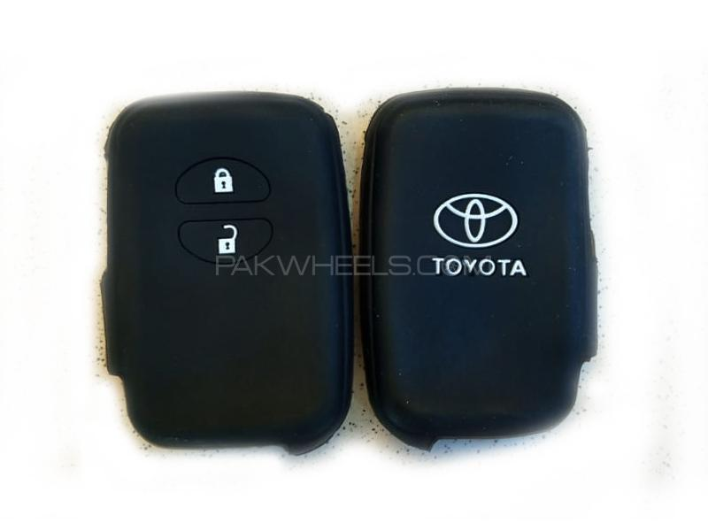Toyota Prius 2003-2009 Push Start Soft Silicone Key Cover Black in Lahore