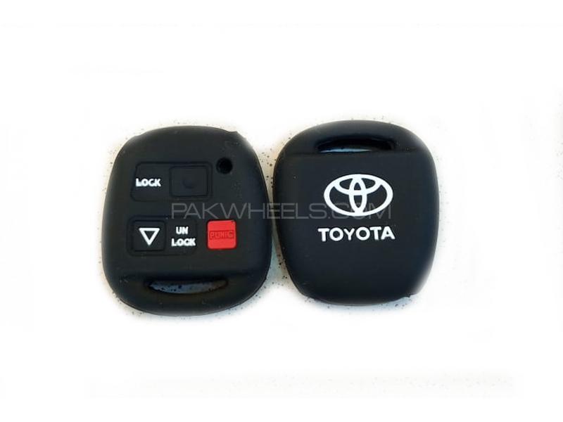 Toyota Corolla 2002-2008 Soft Silicone Key Cover Black Image-1