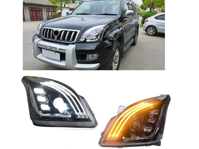 Toyota Prado Fj120 Front Full Led Headlights With Drl in Lahore