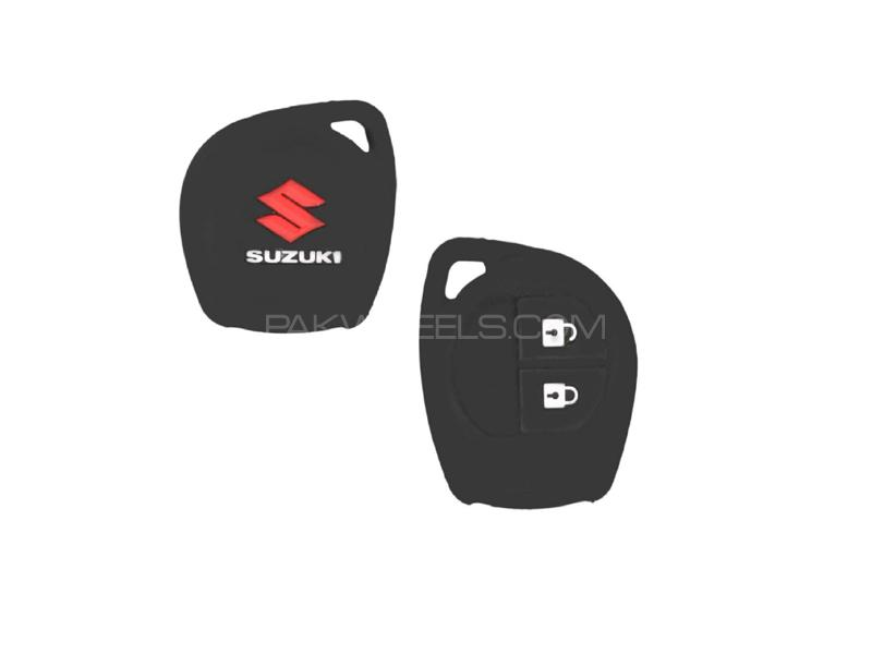 Suzuki Wagon R 2014-2020 Soft Silicone Key Cover Black in Lahore