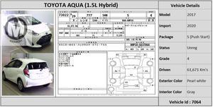Used Toyota Aqua S 2017