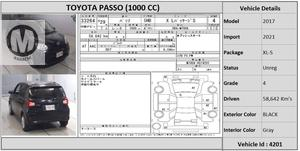 Used Toyota Passo X L Package S  2017