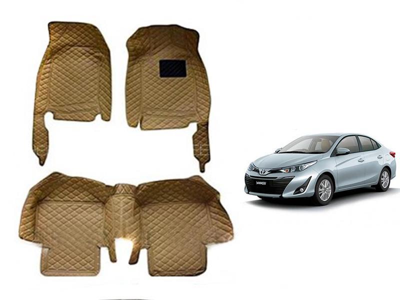 Toyota Yaris 2020-2021 7D Floor Mat - Beige in Karachi