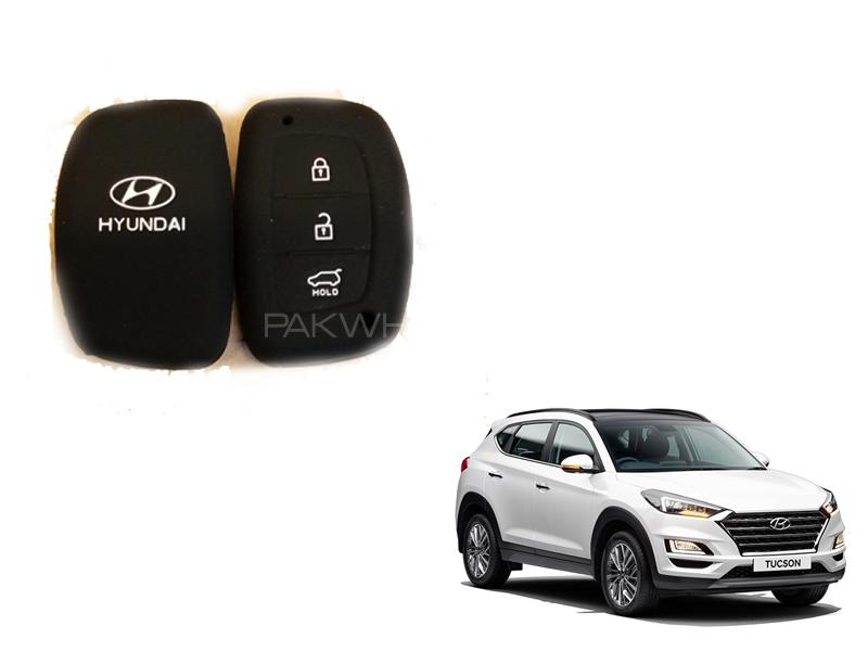 Hyundai Tucson Soft Silicone Key Cover Black in Lahore