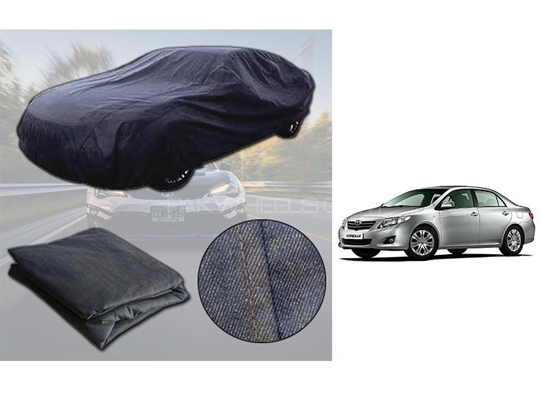 Toyota Corolla 2009-2013 Denim Double Stitched Top Cover  Image-1