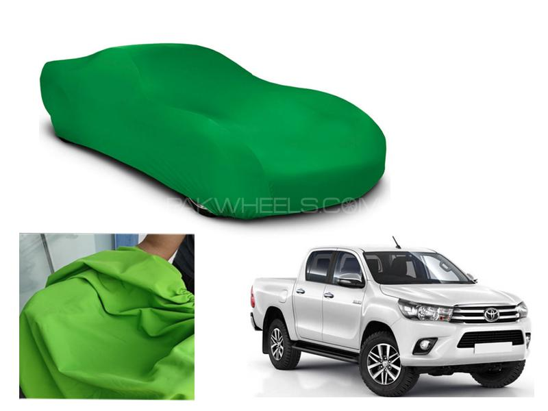 Toyota Revo 2016-2021 Microfiber Coated Anti Scratch And Anti Swirls Water Resistant Top Cover Image-1