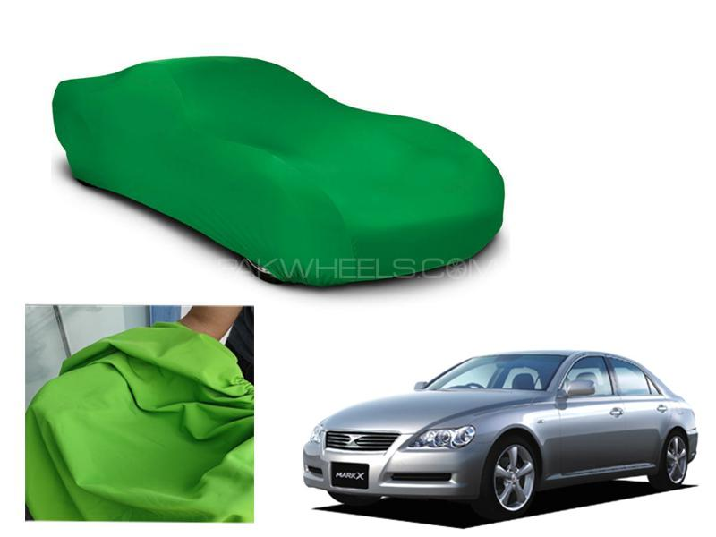 Toyota Mark X Microfiber Coated Anti Scratch And Anti Swirls Water Resistant Top Cover Image-1