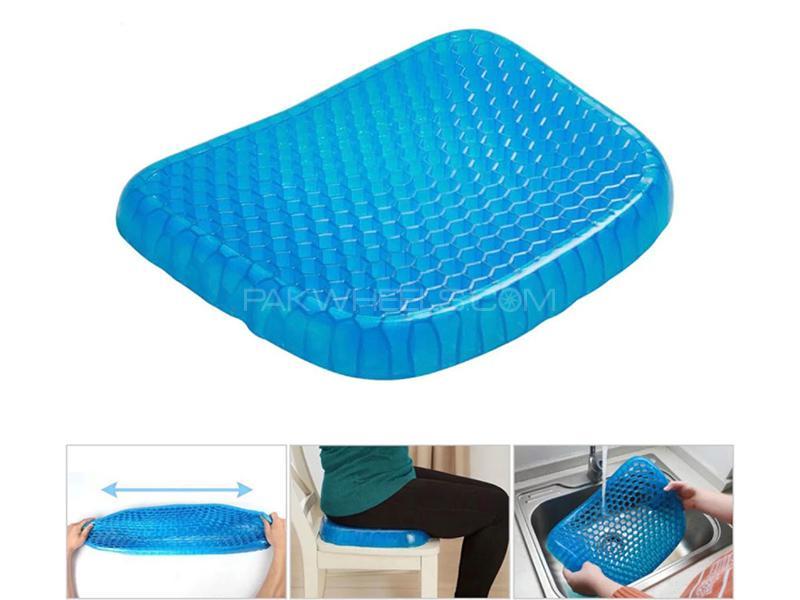 Universal Gel Seat Cushion - Blue  in Karachi
