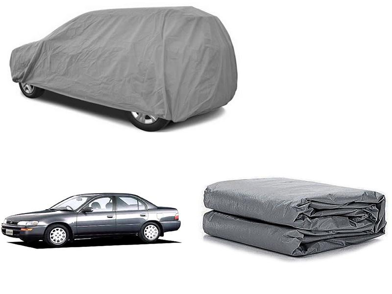 Toyota Corolla 1994-2002 PVC Cotton Fabric Top Cover - Grey  Image-1