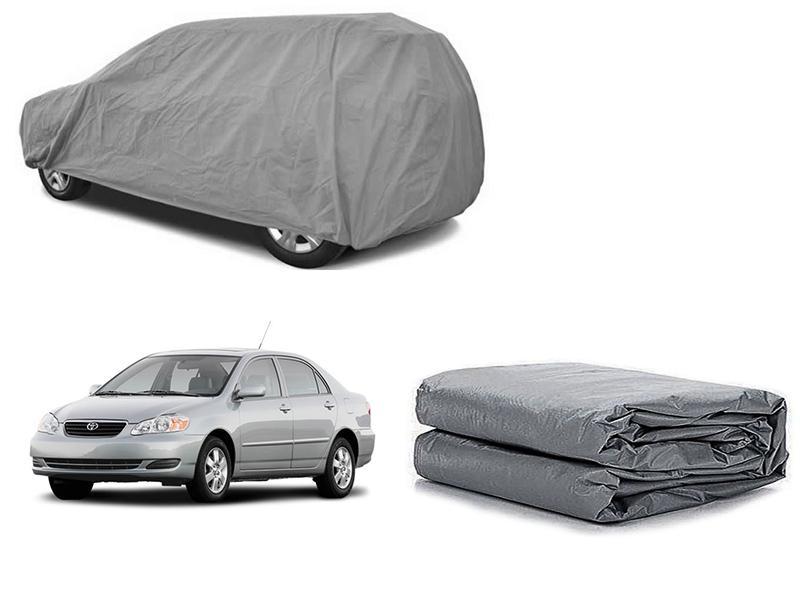 Toyota Corolla 2002-2008 PVC Cotton Fabric Top Cover - Grey  Image-1