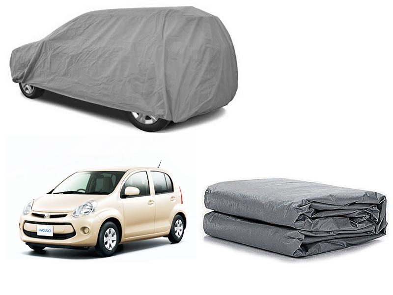Toyota Passo 2010-2014 PVC Cotton Fabric Top Cover - Grey  in Karachi