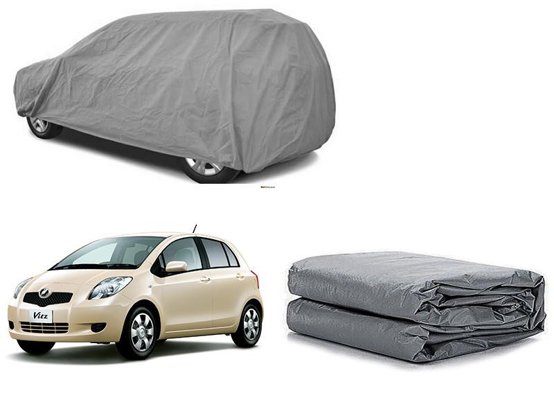 Toyota Vitz 2004-2010 PVC Cotton Fabric Top Cover - Grey  Image-1