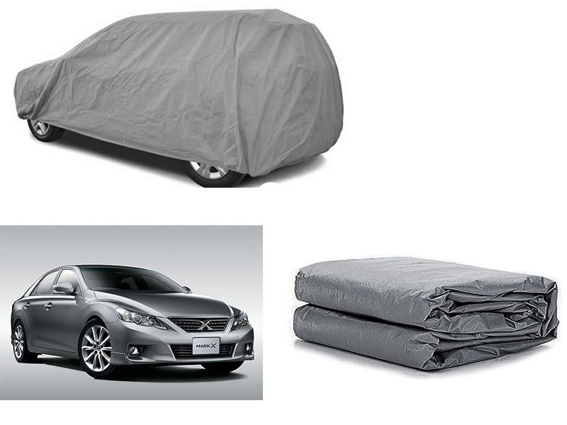 Toyota Mark X 2009-2021 PVC Cotton Fabric Top Cover - Grey  Image-1
