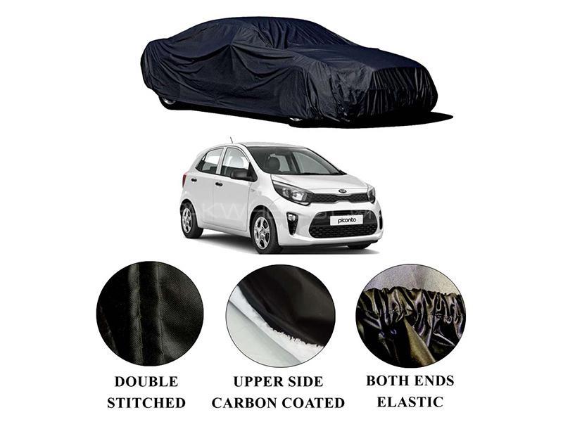Kia Picanto 2019-2021 Polymer Carbon Coated Car Top Cover in Karachi