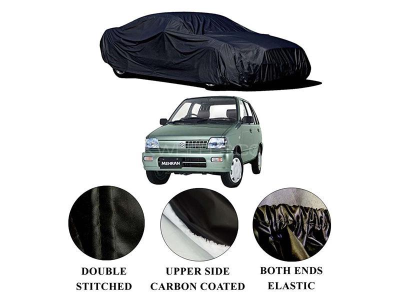 Suzuki Mehran 1988-2019 Polymer Carbon Coated Car Top Cover in Karachi