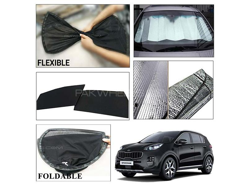 Kia Sportage 2019-2021 Foldable Shades And Front Silver Shade - Bundle Pack  in Karachi
