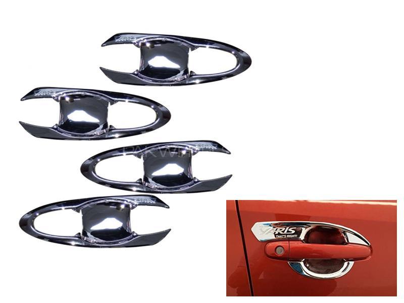 Toyota Yaris Door Handle Bowl Chrome Covers in Lahore