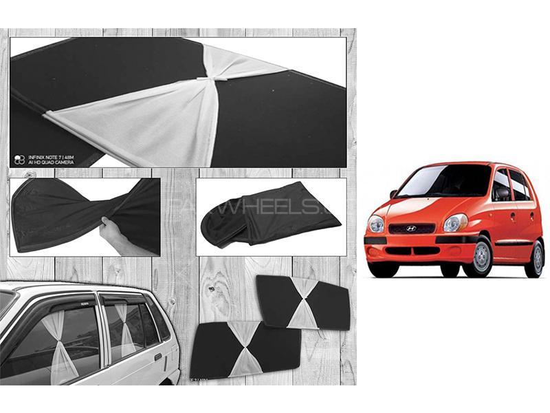Hyundai Santro Club 2003-2014 Fancy Design Foldable Sun Shades  in Karachi
